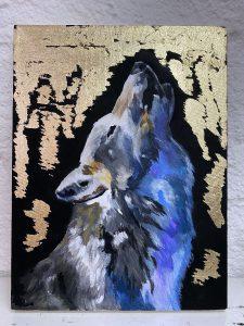Волк с использованием потали