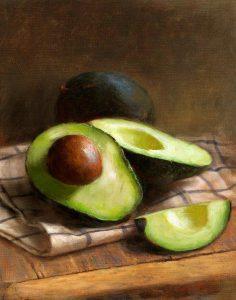 Авокадо, нарисованный на курсе