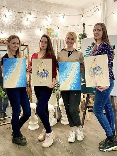 Арт-вечеринка на девичник в Москве