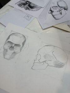 Результаты ученика после курса рисования портрета 3