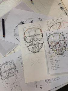Результаты ученика после курса рисования портрета 4