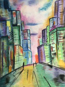 Картина, нарисованная на курсе 5