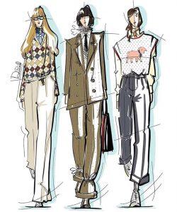 курс рисования fashion одежды