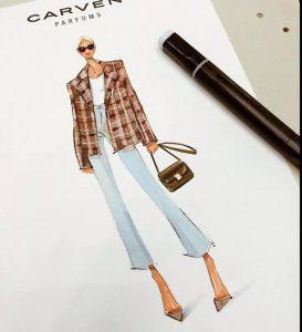 курс рисования модной одежды