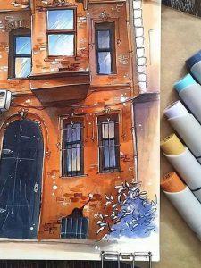 Курс рисования по городскому скетчингу
